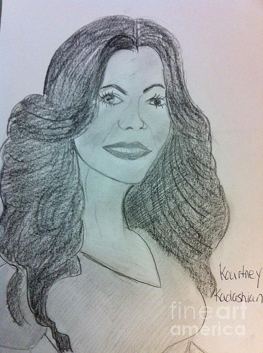 Kourtney Kardashian Print by Charita Padilla