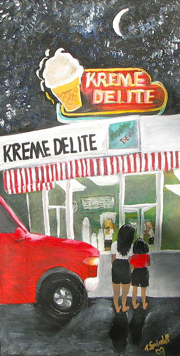 Kreme Delite Print by Tina Swindell