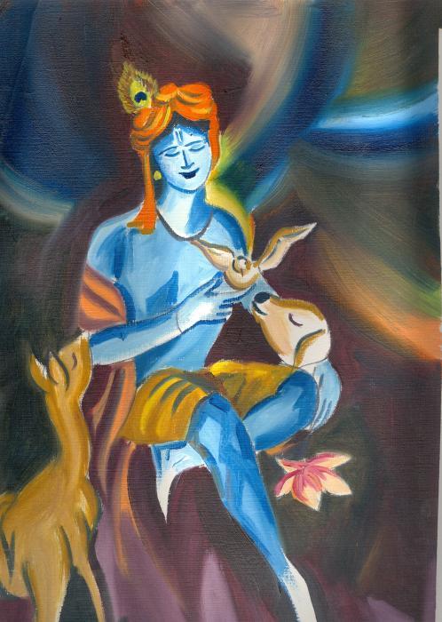 Krishna Abstract By Sudhir Diwanji