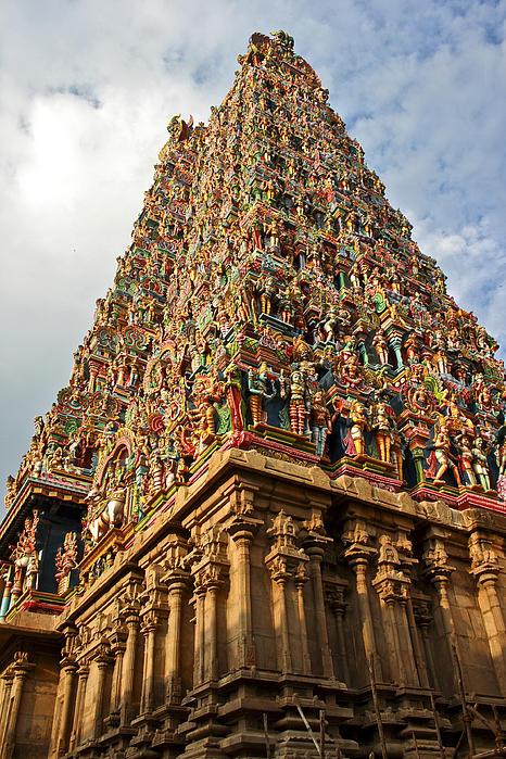 Krishna Temple Madura Print by Kantilal Patel