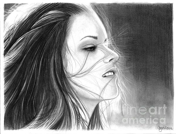 Kristen Stewart Print by Crystal Rosene