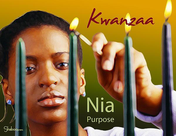Kwanzaa Nia Print by Shaboo Prints