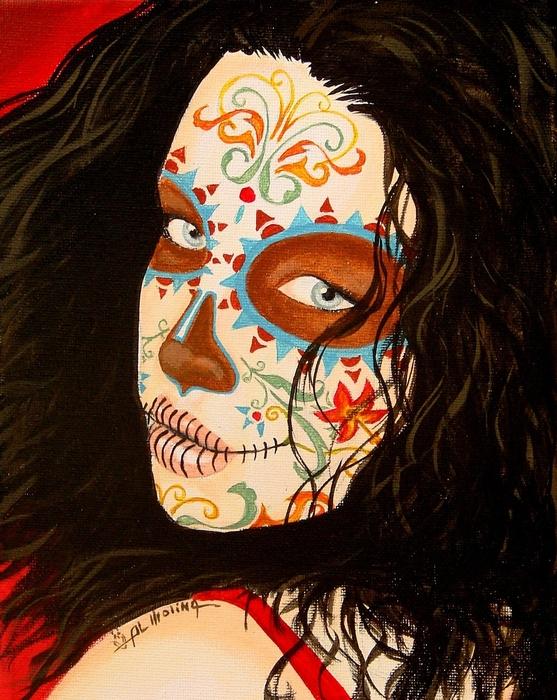 La Belleza En El Viento Print by Al  Molina