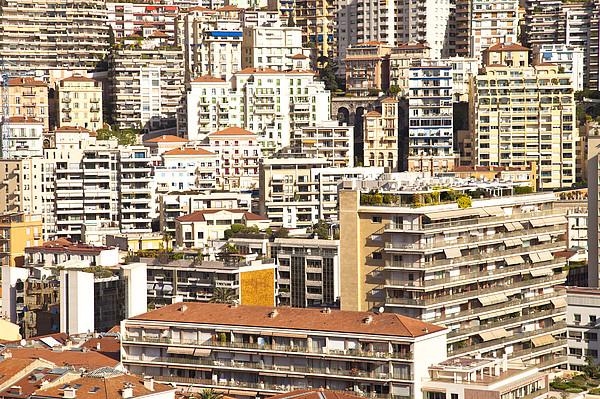 La Condamine And Moneghetti Districts, Monaco Print by Carlos Sanchez Pereyra