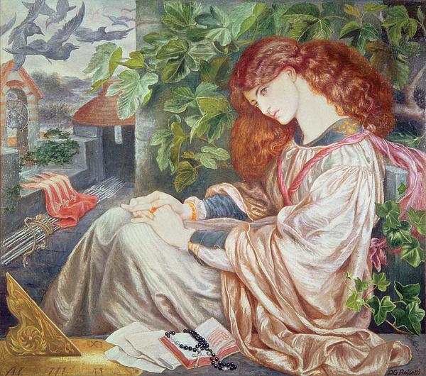 La Pia De Tolomei Print by Dante Charles Gabriel Rossetti