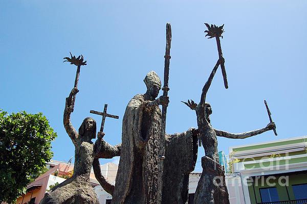 La Rogativa Statue Old San Juan Puerto Rico Print by Shawn O'Brien