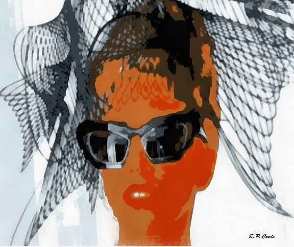 Lady Gaga Print by Elizabeth Coats