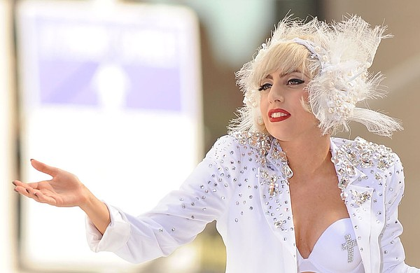Lady Gaga On Stage For Nbc Today Show Print by Everett