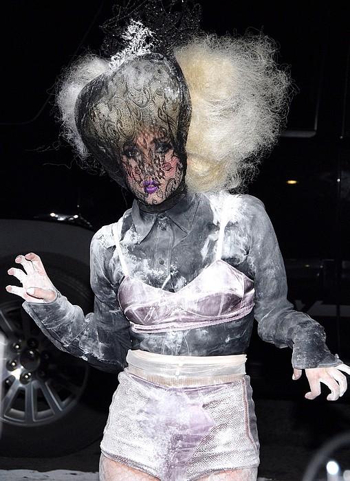 Lady Gaga Wearing A Marc Jacobs Bra Print by Everett