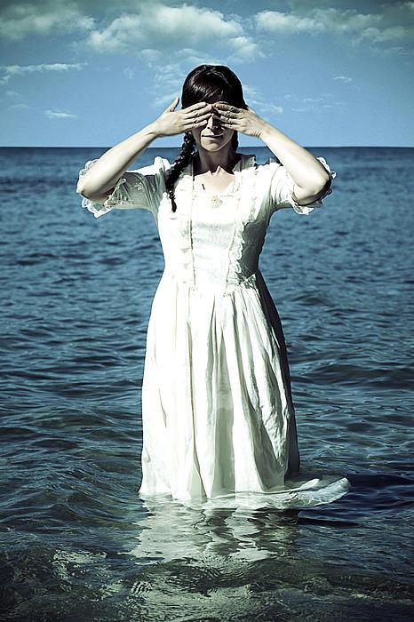Lady In Water Print by Joana Kruse