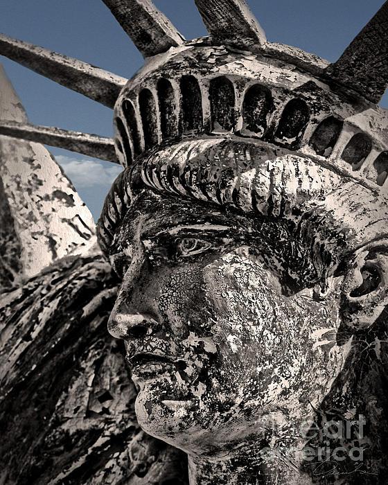 Lady Liberty Print by Danuta Bennett