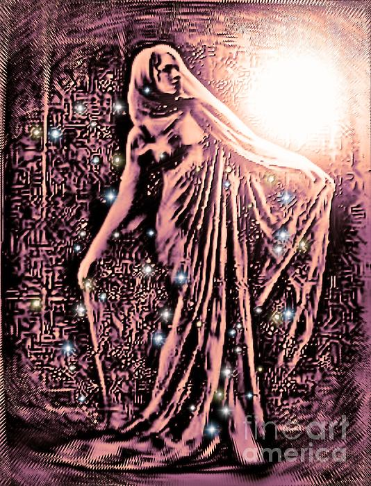 Lady Of The Night Print by Tisha McGee