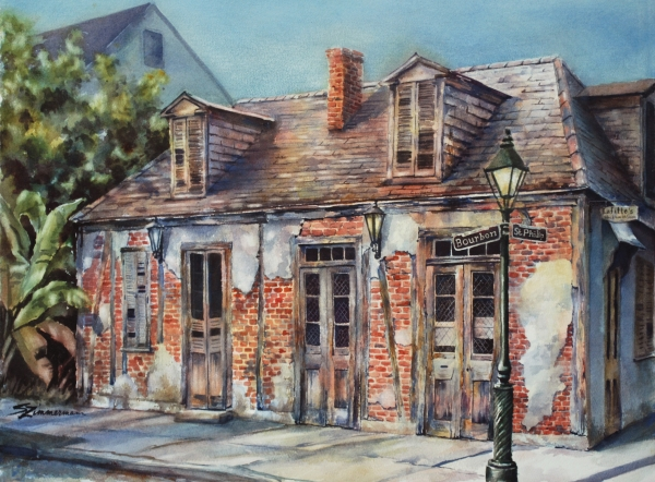 Lafittes Blacksmith Shop Painting  - Lafittes Blacksmith Shop Fine Art Print