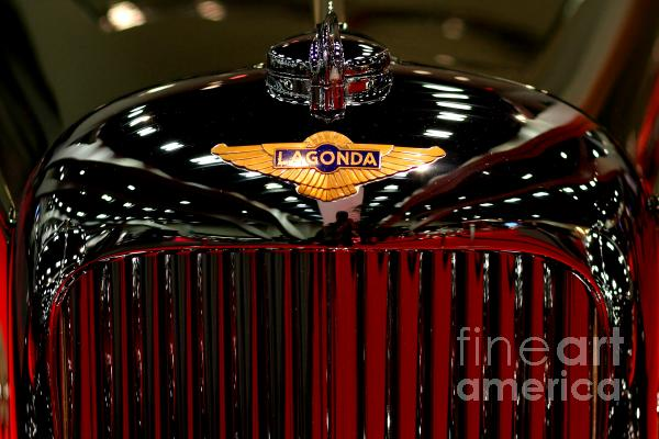 Lagonda Badge Print by Wingsdomain Art and Photography