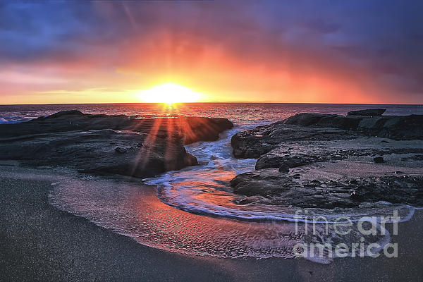 Laguna Beach Sunset Print by Elena Northroup