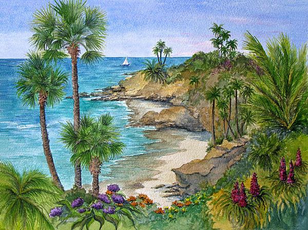 Laguna Beach Vista Print by Bonnie Sue Schwartz