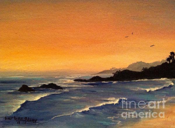 Laguna Sunset Print by Barbara Gilroy