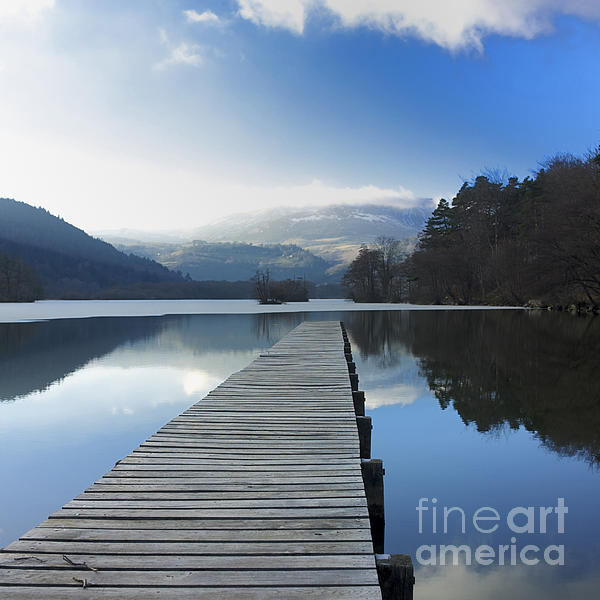 Lake Chambon. Auvergne. France Print by Bernard Jaubert