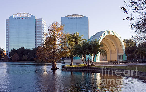 Lake Eola's  Classical Revival Amphitheater Print by Lynn Palmer