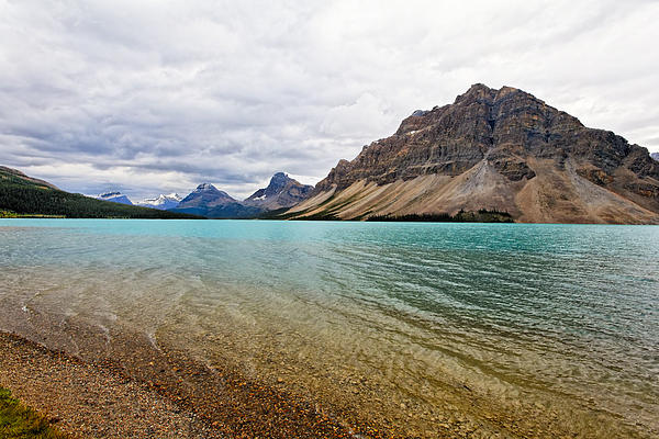 Lake In The Canadian Rockies Print by George Oze