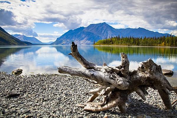 Lake Kathleen In Kluane National Park Print by Blake Kent