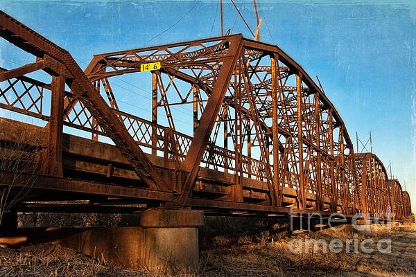 Lake Overholser Bridge Print by Lana Trussell