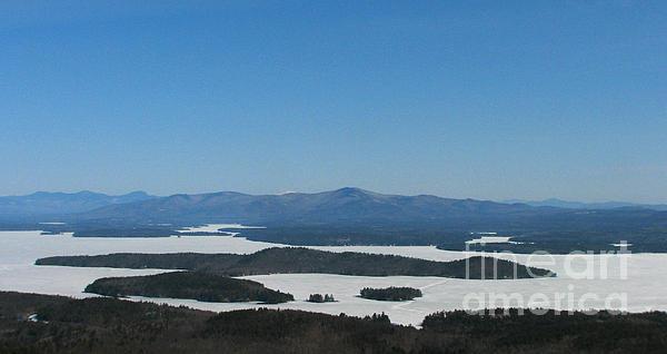 Lake Winnipesaukee View From Mt. Major Print by Michael Mooney