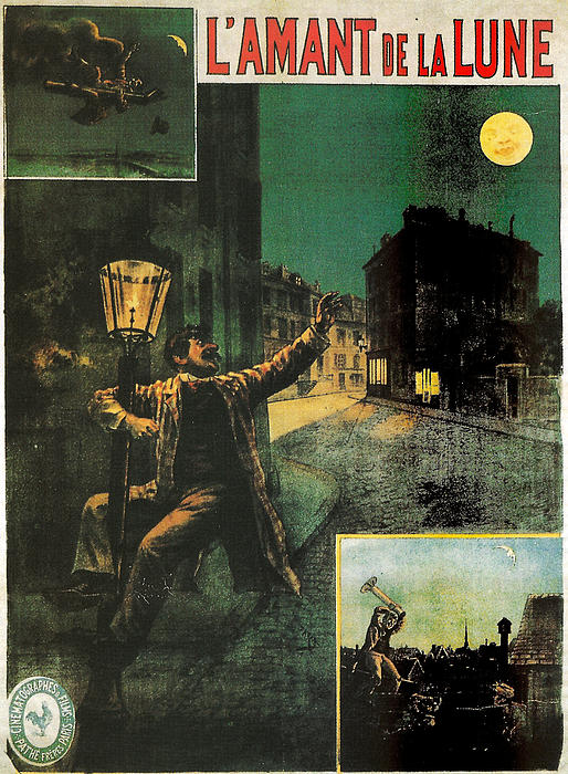 L'amant De La Lune Print by Nomad Art And  Design