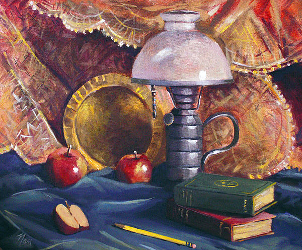 Nancy Griswold - Lamp with Apples