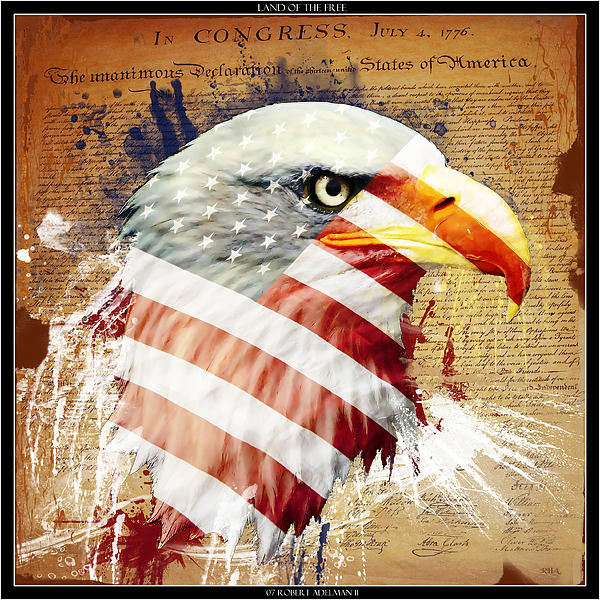 Land Of The Free Print by Robert  Adelman