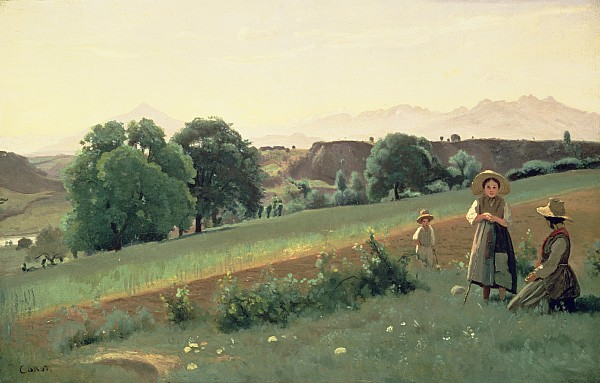 Landscape At Mornex Print by Jean Baptiste Corot