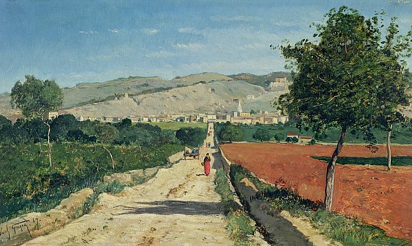 Landscape In Provence Print by Paul Camille Guigou