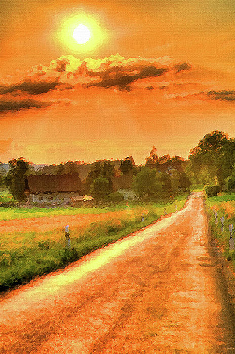landscape oil paintings for sale farm in the sun by