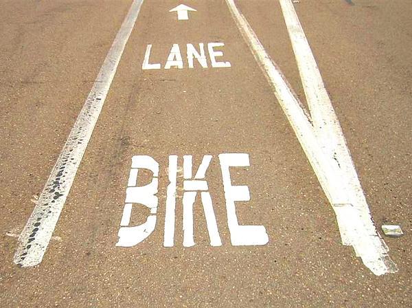 Lane Bike Print by Jenny Senra Pampin