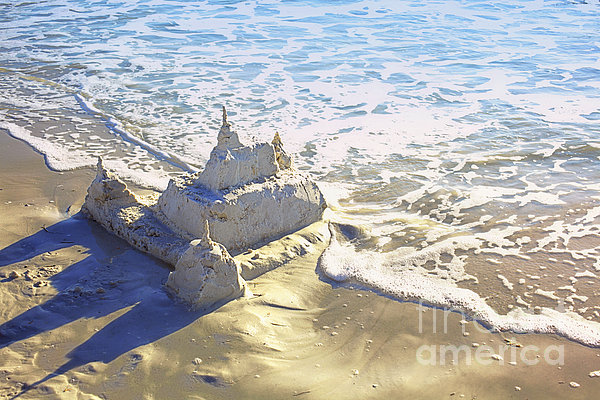 Large Sandcastle On The Beach Print by Skip Nall