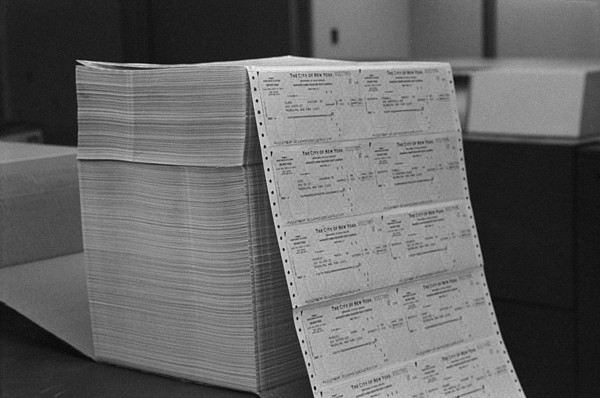 Large Stack Of Computer Generated Print by Everett