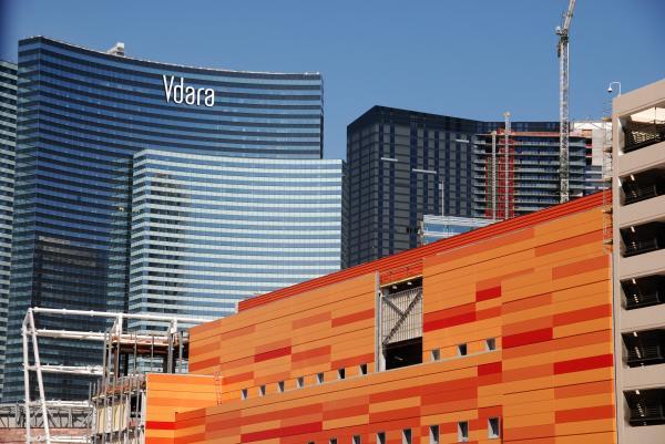 Las Vegas Under Construction Print by Susanne Van Hulst