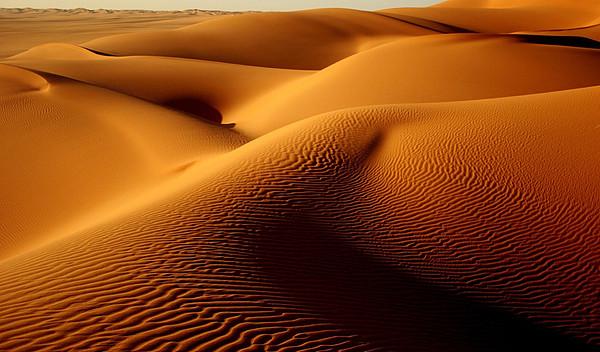 Last Light In The Ubari Sand Sea, Libyan Sahara Print by Joe & Clair Carnegie / Libyan Soup