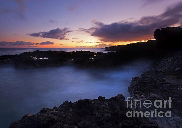Last Light Over The South Shore Print by Mike  Dawson