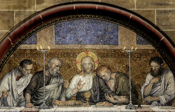 Last Supper Of Christ Print by Adrian Hancu