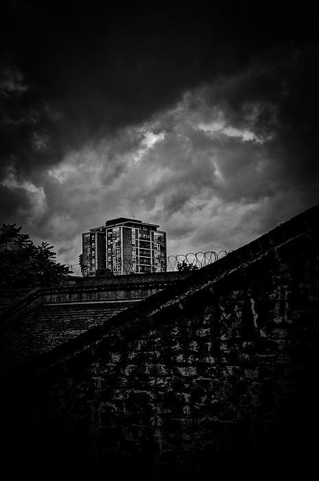 Late Night Brixton Skyline Print by Lenny Carter