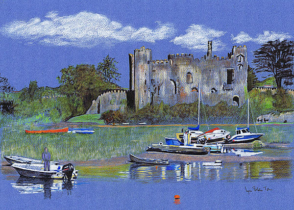 Laugharne Castle  Print by Lynn Blake-John