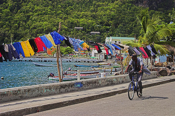Laundry Drying- St Lucia. Print by Chester Williams