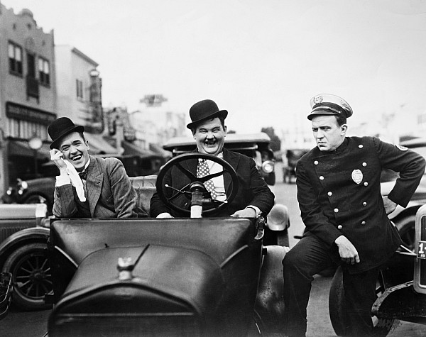 Laurel And Hardy, 1928 Print by Granger
