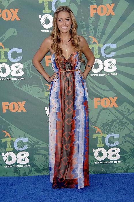 Lauren Conrad Wearing A Dress Print by Everett