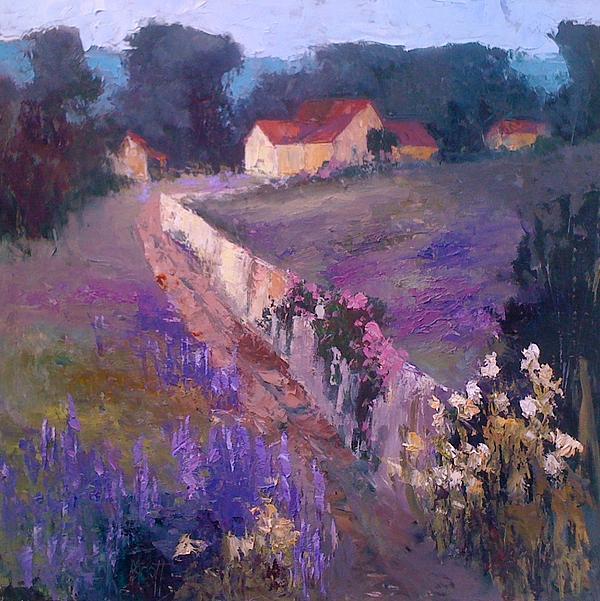 Lavender Lane Print by Mary Scott