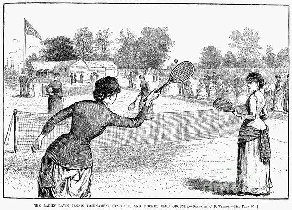 Lawn Tennis, 1883 Print by Granger