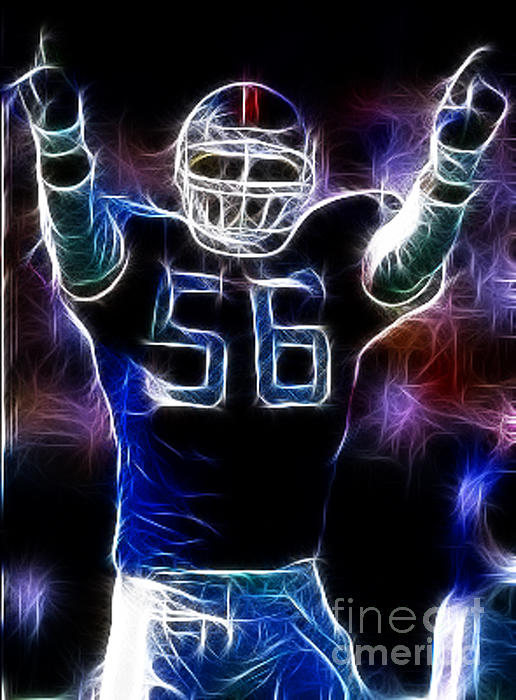Lawrence Taylor Print by Paul Ward