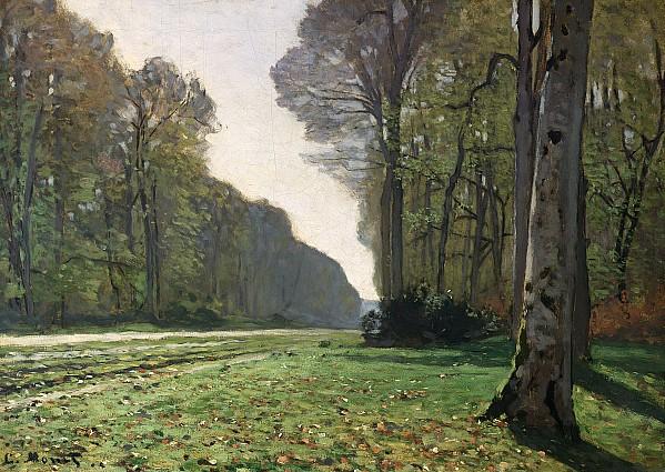 Le Pave De Chailly Print by Claude Monet