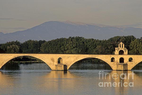 Le Pont Benezet.avignon. Provence. Print by Bernard Jaubert
